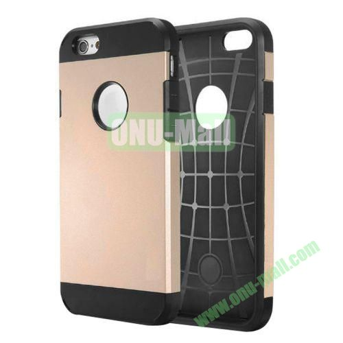 Heavy-duty 2 in 1 Pattern Hybrid PC and TPU Case for iPhone 6 4.7 inch (Champagne)