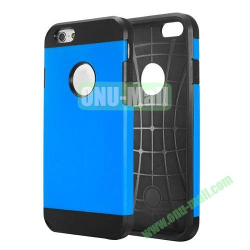 Heavy-duty 2 in 1 Pattern Hybrid PC and TPU Case for iPhone 6 Plus (Blue)