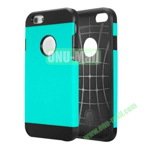 Heavy-duty 2 in 1 Pattern Hybrid PC and TPU Case for iPhone 6 4.7 inch (Light Blue)