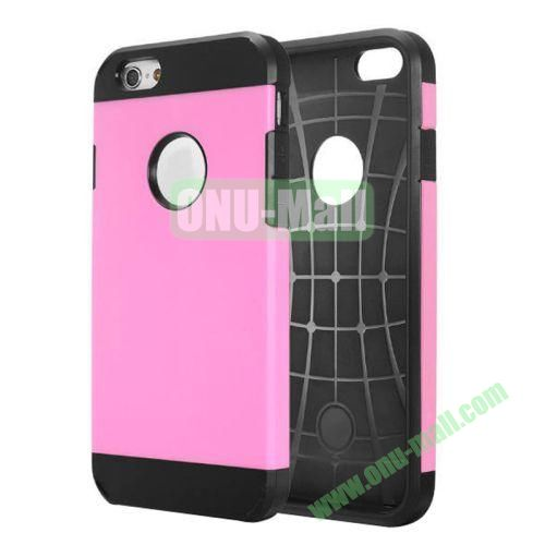 Heavy-duty 2 in 1 Pattern Hybrid PC and TPU Case for iPhone 6 4.7 inch (Pink)