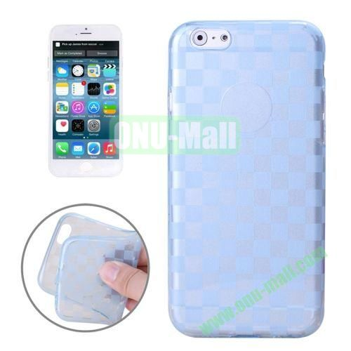 Small Square Pattern Soft TPU Case for iPhone 6 4.7 inch (Blue)