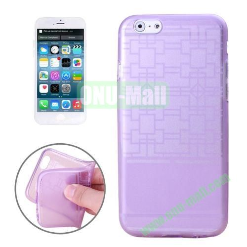 Frame Structure Pattern Soft TPU Case for iPhone 6 4.7 inch (Purple)