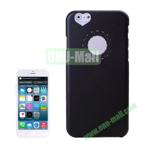 0.7mm Plastic Hard Back Case for iPhone 6 4.7 Inch (Black)