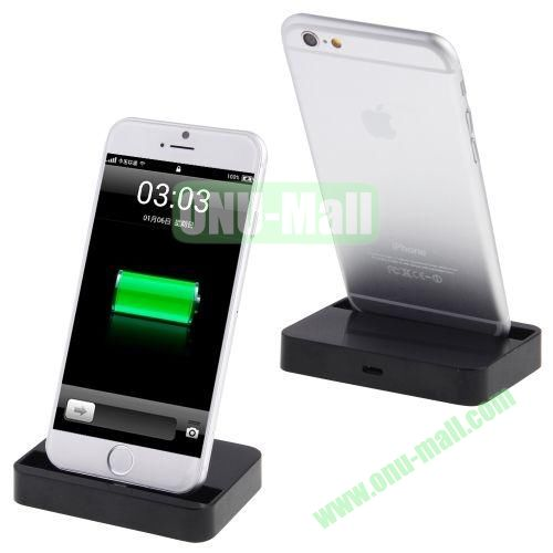 Stand 8 Pin Dock Charger for iPhone 6 4.7  iPhone 6 Plus (Black)