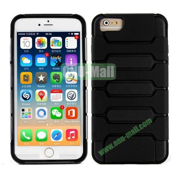 Hot Sale Slim Fit Dual Layer Hybrid TPU and PC Case for iPhone 6 4.7 Inch (Black)