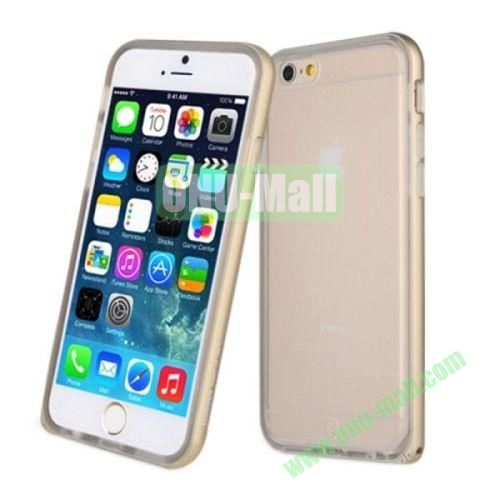Hot Sale Baseus 2 in 1 Metal Frame and TPU Back Case for iPhone 6 4.7 Inch (Gold)