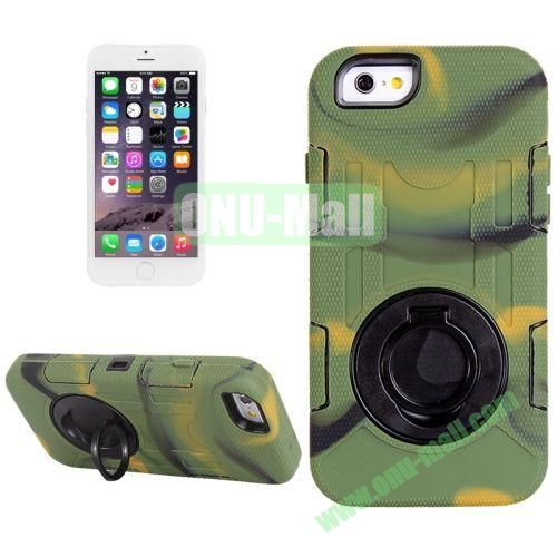 Shockproof Silicone + Hard Plastic Hybrid Case for iPhone 6 Plus (Camo)