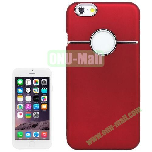 Horizontal Stripe Pattern Hard Case for iPhone 6 Plus (Red)