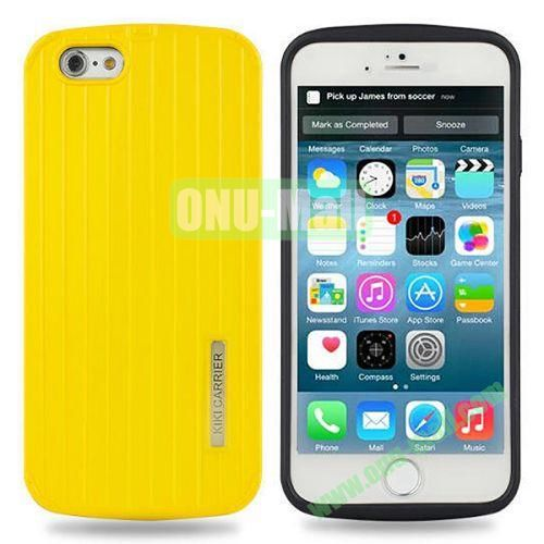 Fashionable Luggage Design Soft TPU and PC Shockproof Case for iPhone 6 4.7 inch (Yellow)