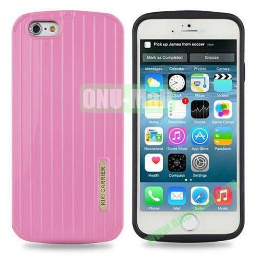 Fashionable Luggage Design Soft TPU and PC Shockproof Case for iPhone 6 4.7 inch (Pink)