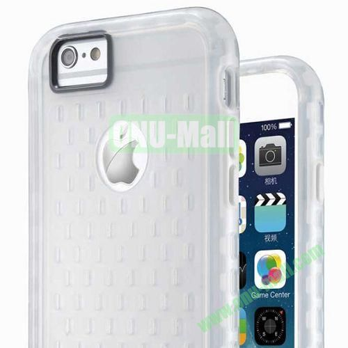 G-Case Armor Series Mesh Desgin TPU and PC Hybrid Shockproof Case for iPhone 6 Plus (White)