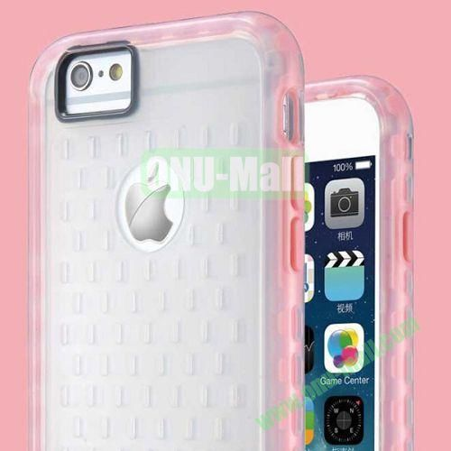 G-Case Armor Series Mesh Desgin TPU and PC Hybrid Shockproof Case for iPhone 6 Plus (Pink)
