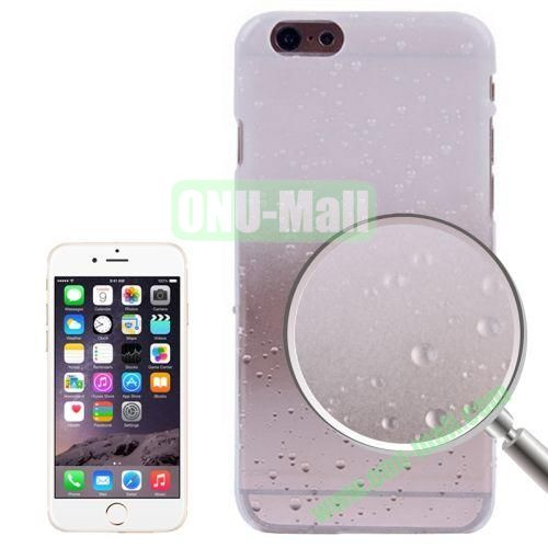 Color Gradient Waterdrop Pattern Plastic Hard Case for iPhone 6 Plus (White)