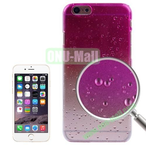 Color Gradient Waterdrop Pattern Plastic Hard Case for iPhone 6 Plus (Rose)