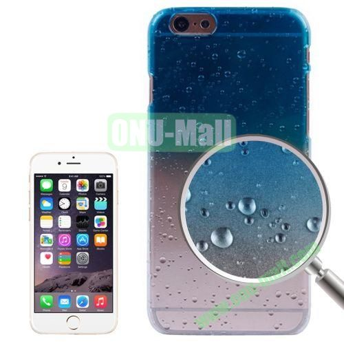 Color Gradient Waterdrop Pattern Plastic Hard Case for iPhone 6 4.7 inch (Baby Blue)