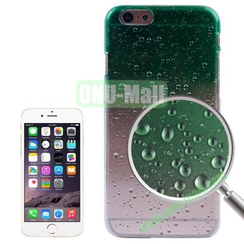 Color Gradient Waterdrop Pattern Plastic Hard Case for iPhone 6 Plus (Green)