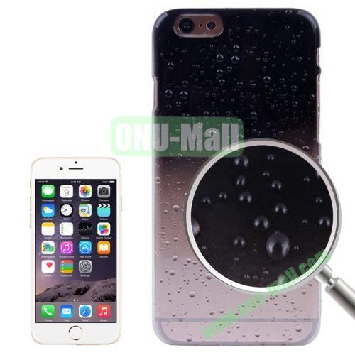 Color Gradient Waterdrop Pattern Plastic Hard Case for iPhone 6 4.7 inch (Black)