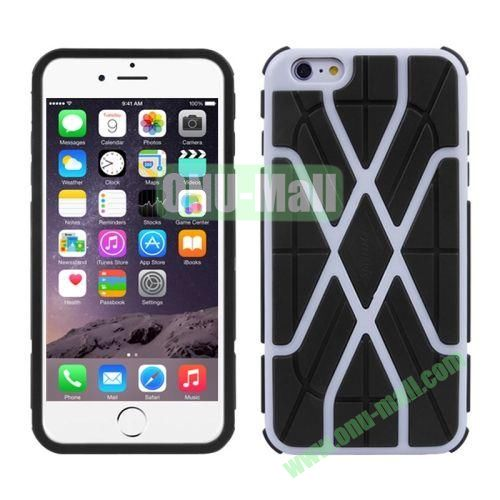 Spider-man Series Plastic + TPU Combination Case for iPhone 6 Plus (White Line)