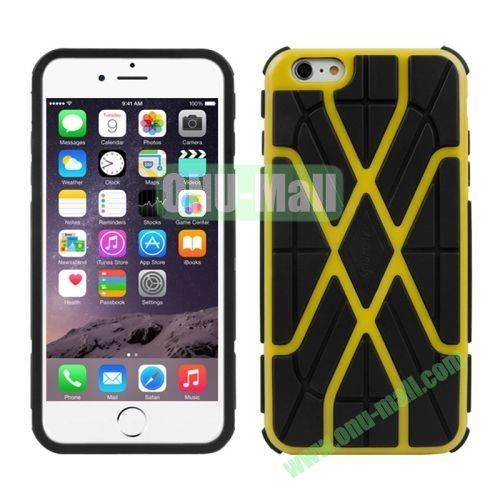 Spider-man Series Plastic + TPU Combination Case for iPhone 6 (Yellow Line)