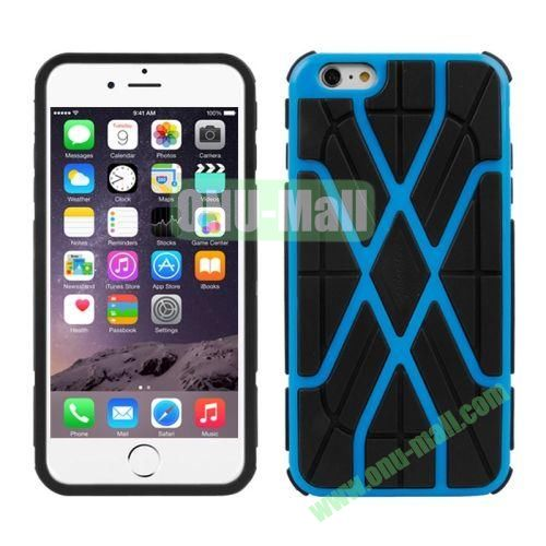 Spider-man Series Plastic + TPU Combination Case for iPhone 6 Plus (Blue)