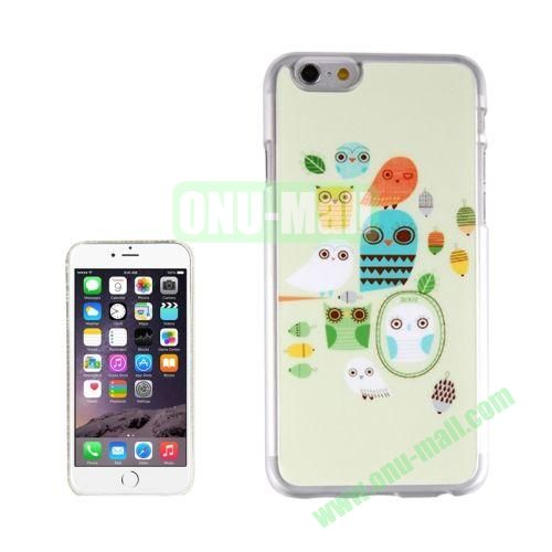 New Arrival Personalized Design 3D Plastic Case for iPhone 6 Plus (A Peck of Owls)