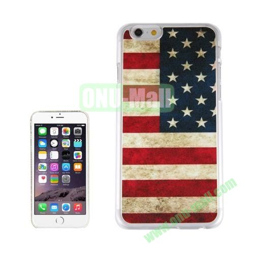 New Arrival Personalized Design 3D Plastic Case for iPhone 6 Plus (Retro USA Flag)