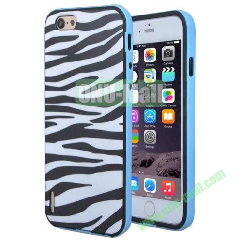 Various Design TPU and PC Bumper Frame and Back Shell Case for iPhone 6 Plus (Zebra-stripe)