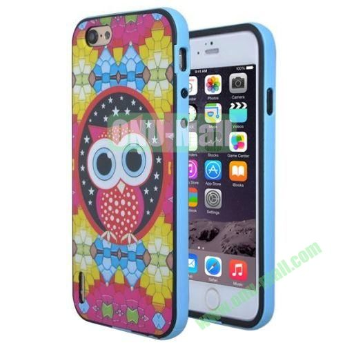 Various Design TPU and PC Bumper Frame and Back Shell Case for iPhone 6 (Owl Pattern)