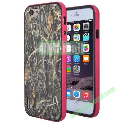 Various Design TPU and PC Bumper Frame and Back Shell Case for iPhone 6 (Withered Grass)