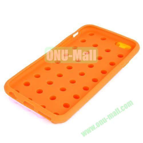 Building Block Texture Silicone case for iPhone 6 Plus (Orange)