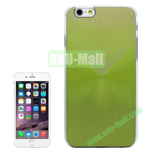 Metal Sheet CD Texture Paste Crystal Frame Case for iPhone 6 Plus (Green)
