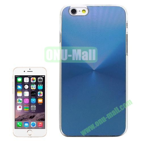 Metal Sheet CD Texture Paste Crystal Frame Case for iPhone 6 Plus (Light Blue)