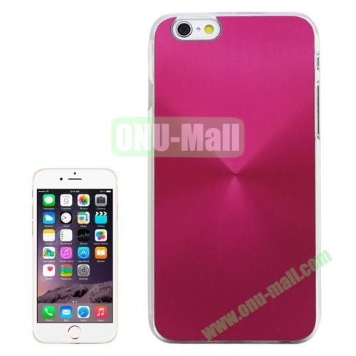 Metal Sheet CD Texture Paste Crystal Frame Case for iPhone 6 Plus (Rose)