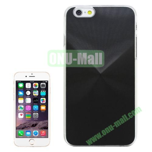 Metal Sheet CD Texture Paste Crystal Frame Case for iPhone 6 Plus (Black)