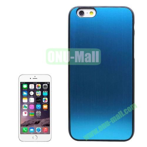Brushed Texture Hard Plastic Case Cover for iPhone 6 4.7 Inch (Light Blue)