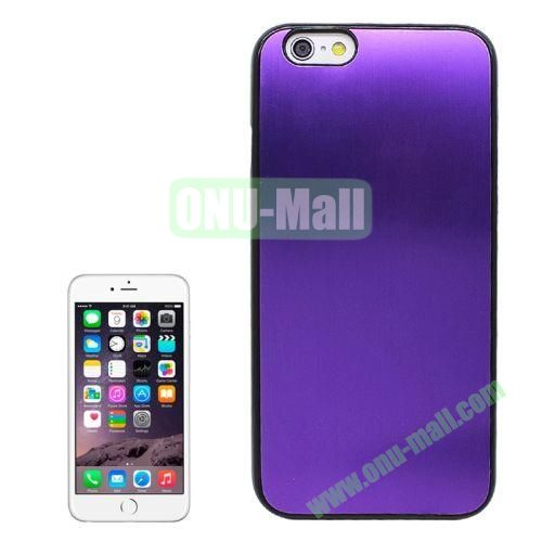 Brushed Texture Hard Plastic Case Cover for iPhone 6 4.7 Inch (Purple)