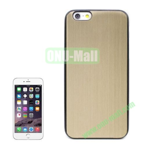 Brushed Texture Hard Plastic Case Cover for iPhone 6 4.7 Inch (Gold)