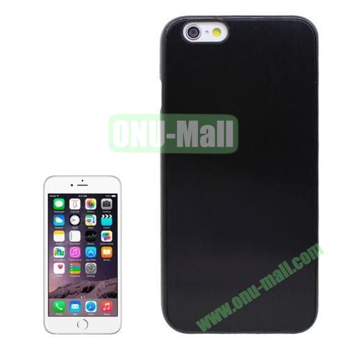 Brushed Texture Hard Plastic Case Cover for iPhone 6 4.7 Inch (Black)