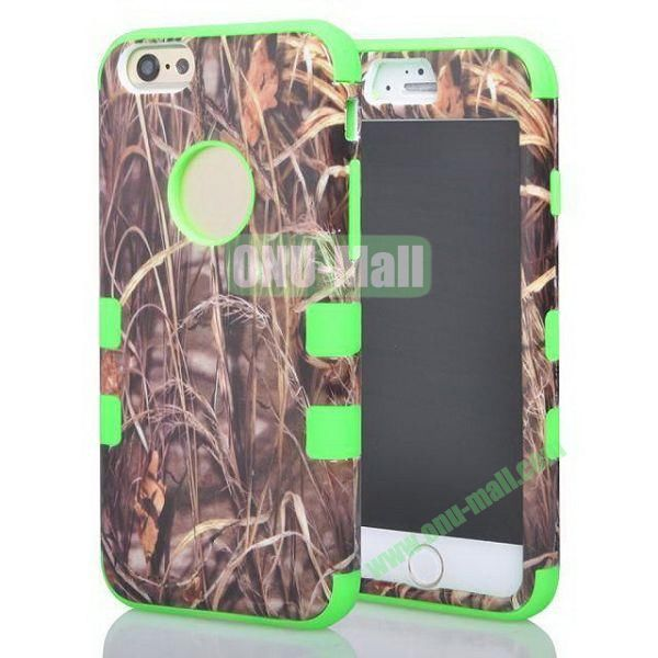 Withered Straw Pattern 3-in-1 Hybrid  Protective Combination Case for iPhone 6 4.7 inch (Green)