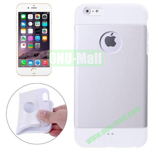 Color Mixed Style Soft TPU Case for iPhone 6 4.7 inch (White)