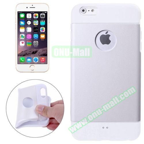 Color Mixed Style Soft TPU Case for iPhone 6 Plus (White)