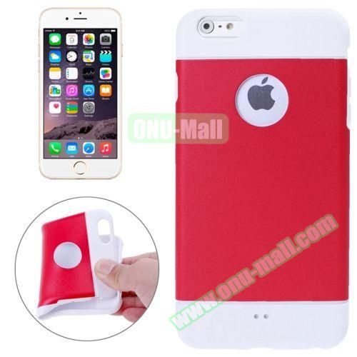 Color Mixed Style Soft TPU Case for iPhone 6 Plus (Red)