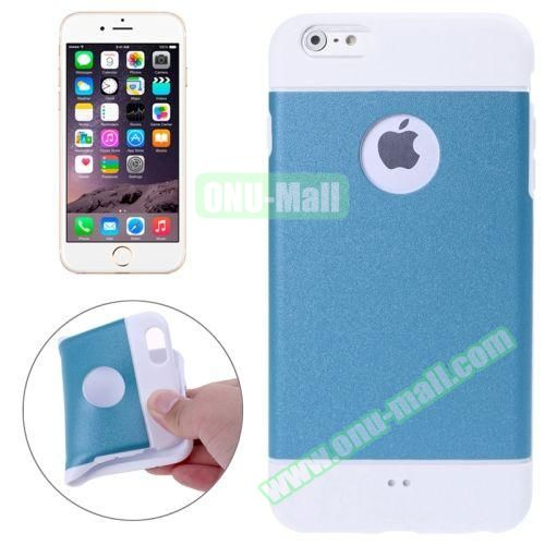 Color Mixed Style Soft TPU Case for iPhone 6 Plus (Blue)
