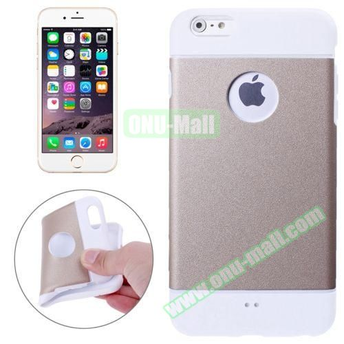 Color Mixed Style Soft TPU Case for iPhone 6 Plus (Gold)