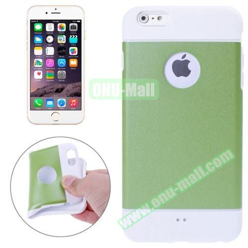 Color Mixed Style Soft TPU Case for iPhone 6 Plus (Green)