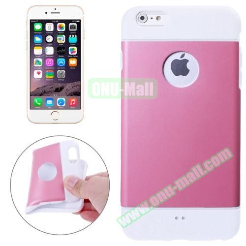 Color Mixed Style Soft TPU Case for iPhone 6 Plus (Pink)