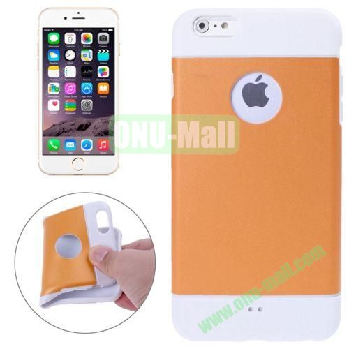Color Mixed Style Soft TPU Case for iPhone 6 4.7 inch (Orange)