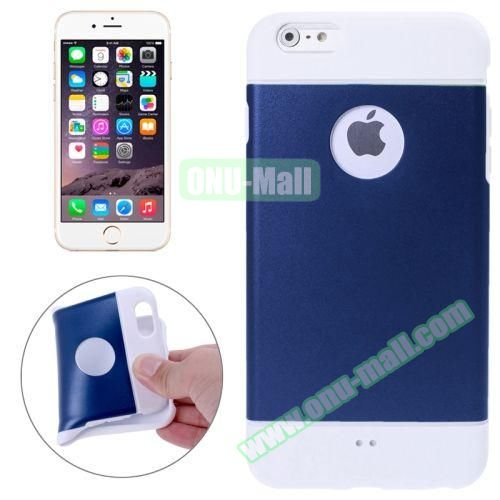 Color Mixed Style Soft TPU Case for iPhone 6 Plus (Dark Blue)
