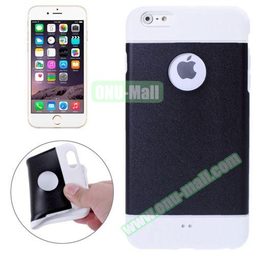 Color Mixed Style Soft TPU Case for iPhone 6 Plus (Black)