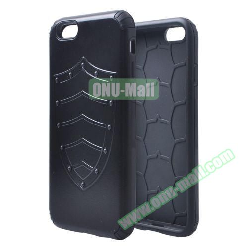 Shield Series Hybrid Silicone and PC Combination Case for iPhone 6 Plus (Black)